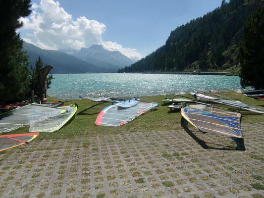 Windsurfing Silvaplana