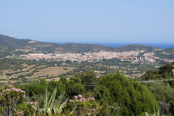 Ausblick vom Ferienhaus auf Villasimius