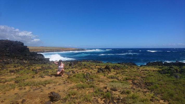 Wanderung zum GREEN BEACH, Big Island