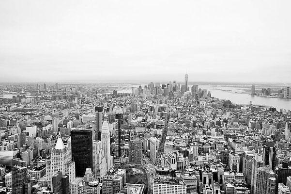 Ausblick vom Empire State Bldg