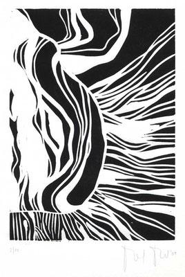 TANZENDER KÖRPER / 16,5 x 25 cm / 2007 / linolschnitt, auflage 10 stück