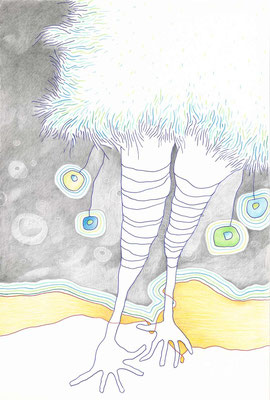 PAULINCHEN / 18 x 26 cm / fine art print (kuli, bleistift, buntstift auf papier), limitierte auflage von 10 stück