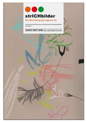 KUNSTzeich(n)en - strICHbilder | design: manutober 2020 | original, unikat, signiert | die zeichenmappe in A3 enthält alle SpielELEMENTE