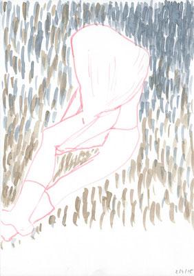 TRAUER / 2015 / aquarell auf papier / (c) andrás mádai