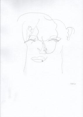 PORTRAIT blindgezeichnet / 2015 / bleistift auf papier / (c) andrás mádai