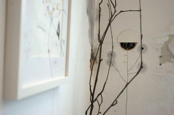 """TRANSFORM-ARTE 2017 / """"meine-welt-raum"""" / wandblume, exponat, installation"""