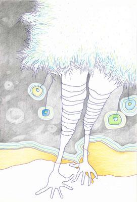 PAULINCHEN / 18 x 26 cm / kuli, bleistift, buntstift auf papier