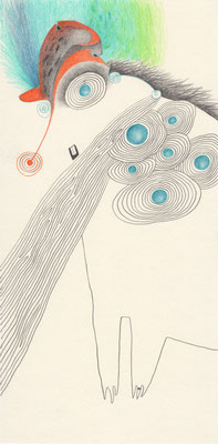 OHNE TITEL / 15 x 30 cm / 2015 / bleistift, buntstift auf papier