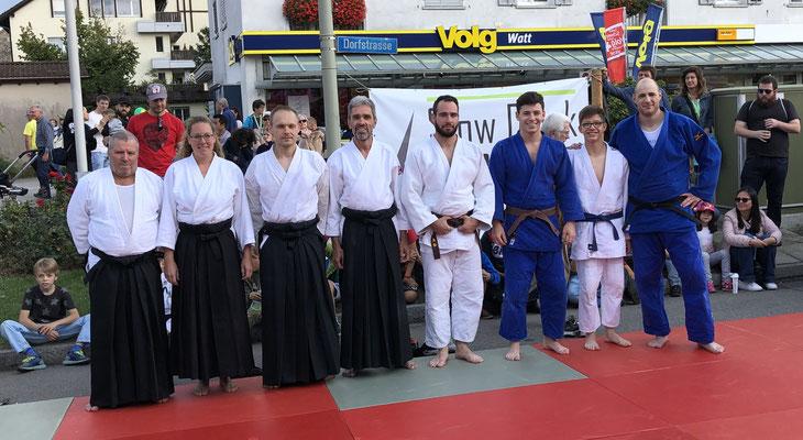 Judo und Aikido Demoteam am Watterfest