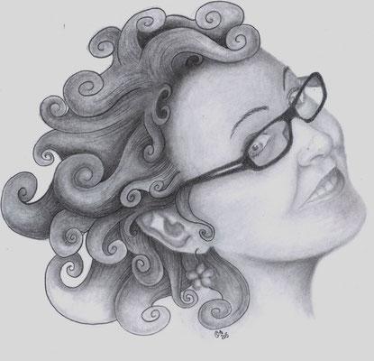 2015 Portrait Corinne - Graphitbleistifte