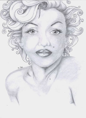 2015 Portrait Marilyn Monroe - Graphitbleistifte