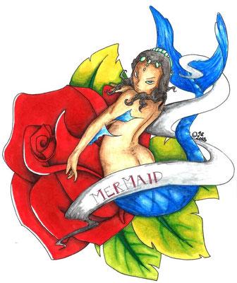 2015 Das Blumenkind - Aquarellstifte und Alkoholmarker