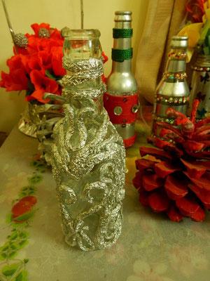 空き瓶も美しい花瓶に