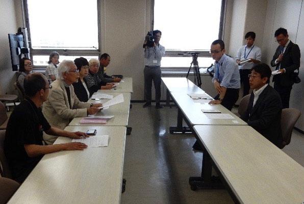 「九州玄海原発訴訟」の原告代表・長谷川先生が九電の玄海原発のトラブルに対して申し入れた。