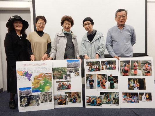 会場には画家の山本先生が岡田さんたちの写真をレイアウトしたパネルを用意してくださっていた。