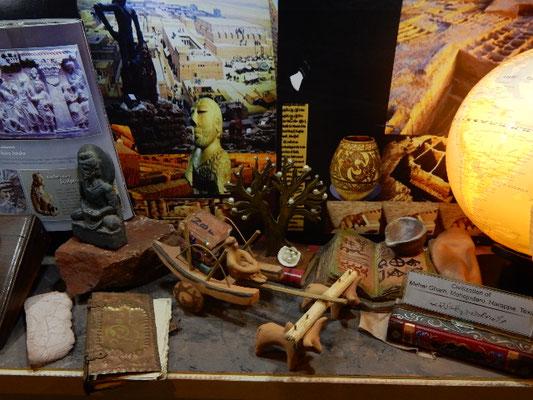 モヘンジョダロの古代文明の展示