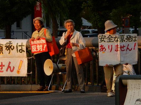 元県保健所所長、元県会議員の太田さんは80歳になられる。「放射能の悪影響は若い人たちの生殖器に起こる」と訴える。