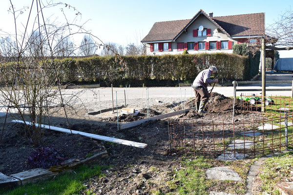 01.03.2021 - Baustelle neuer Eingang - building site new entrace