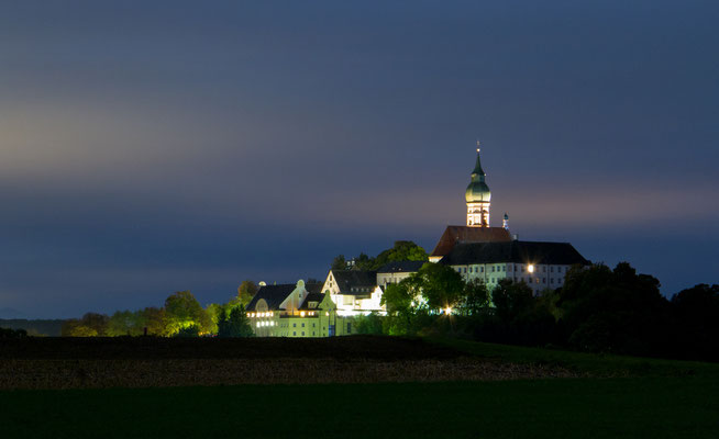 Dezember 2016 - Kloster Andechs bei Nacht