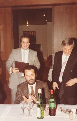 Il Presidente Mario Albertini, Mario Lutterotti e l'Assessore Malossini