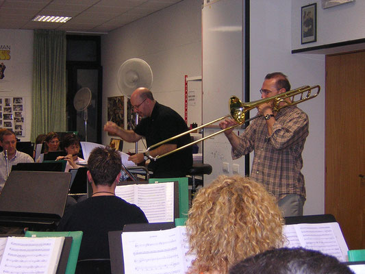 in sala prove con Jaques Mauger. Trombone solista.