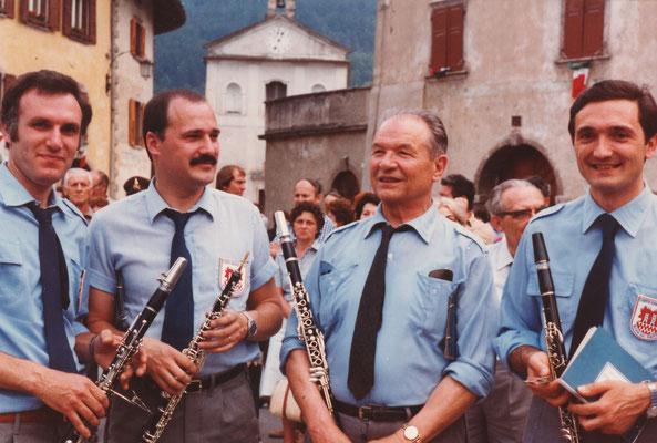 Claudio Fedrizzi all'oboe, Guido Zanolli al Clarinetto, Edoardo Stefenelli al clarinetto (DX) e Luigi Meregalli al Clarinetto (SX)