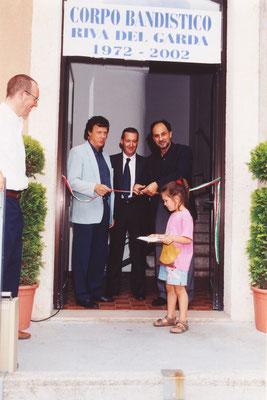 Inaugurazione della nuova sede in viale dei Tigli. Al centro il Presidente Tiziano Tarolli