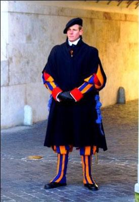 Garde suisse, Vatican, Rome