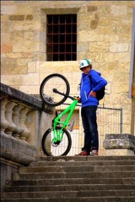 Cycliste, Auch, France