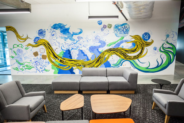 Mural by Jiha Moon; Photo by Cliff Robinson