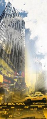 """""""New York"""", 2010, Unikat, Druck auf Canvas, 100x40 cm, verkauft"""