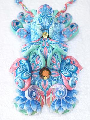 神様ペンダント2015(大黒天2015-1) 縦119×横78×厚み35mm  チェーン57-62cm