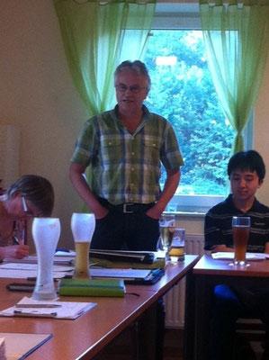 Hergen Berger berichtet über die Jugendarbeit im Kreis