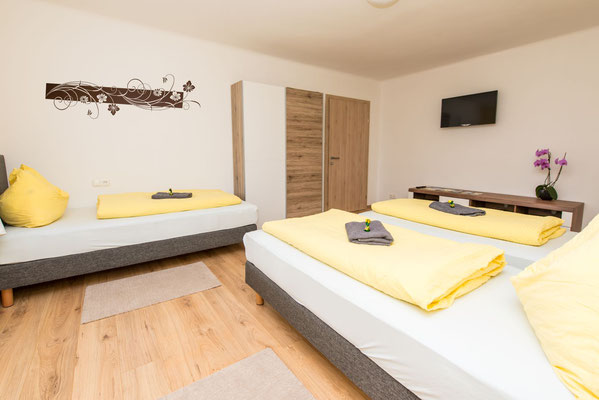Dreibett-Zimmer mit Frühstücksbuffet in Spielberg am Red Bull Ring - Ferienwohnung-Zimmer Yassi