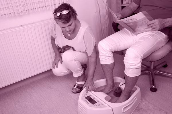 Energetsiches Fußbad bei Fuss und Fit - Karin Gaiblinger