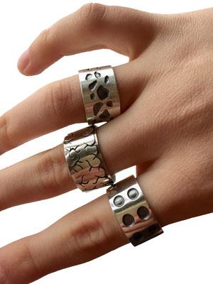 Einige Ringe (Silber) • Několik prstenů (stříbro)