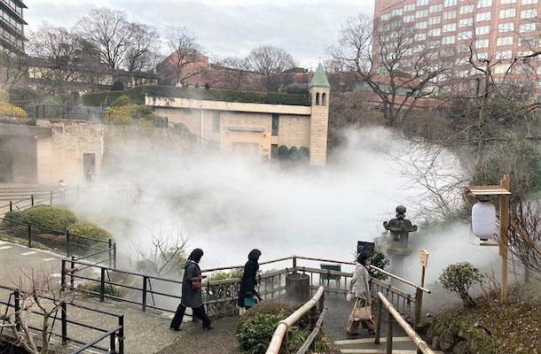 50代ひとり旅 椿山荘 庭園 雲海