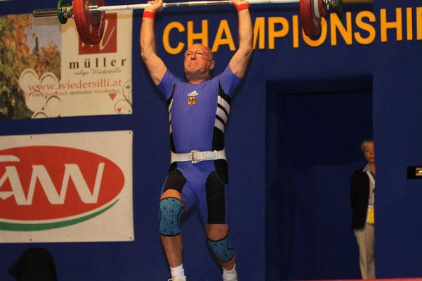Heinz Kuhn bei den Europameisterschaften
