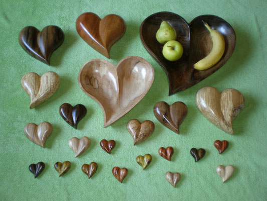 Holz-Herzen