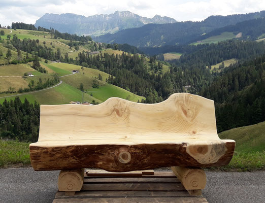 Rundholzbank Fichten Holz