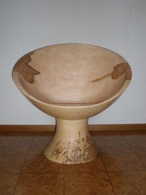 Massiver drehbarer Sessel aus Ahornholz