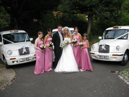 3 White Taxis Croydon Wedding