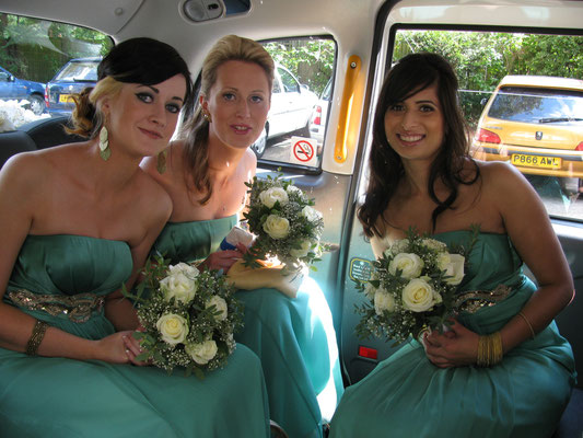 2 trips Bridesmaids 1st then return for The Bride