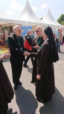 v. links Anders Kardinal Arborelius, Stockholm - Sr. M. Michaela Pfeiffer Generaloberin der Marienschwestern, Linz -  P.  Ulrich Dobhan Provinzial, München