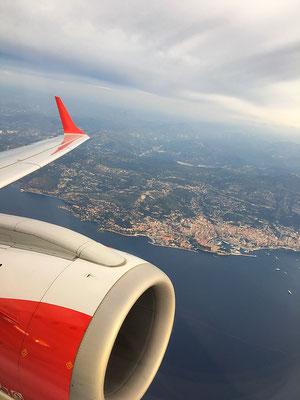Monaco en avion