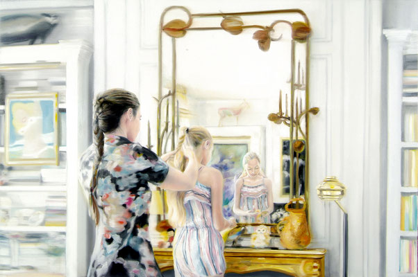 Lalanne and family, Öl auf Leinwand, 120 x 180cm, 2018