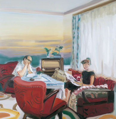 Das Ende der Gemütlichkeit, Öl auf Leinwand, 170 x 170cm, 2006