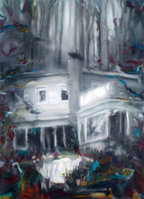 Villa O., Öl auf Leinwand, 180 x 130cm, 2012