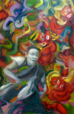 Im Gebet, Öl auf Leinwand, 160 x 110cm, 2008