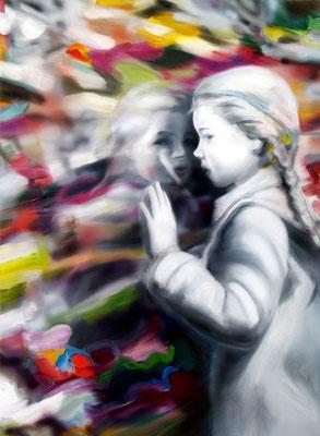 Mirror, Öl auf Leinwand, 150 x 110cm, 2014